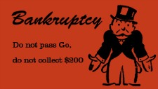 Bankruptcy Monopoly card
