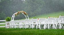 Wedding chairs in the rain