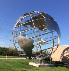 World sculpture in Elmhurst IL