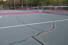 cracked courts