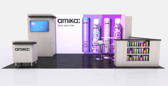 Amika 20ft Trade Show Display