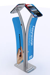 Trade show tablet stand