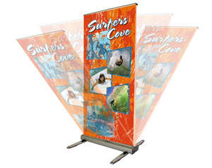 Outdoor Banner Stand Display